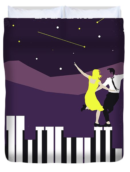 No756 My La La Land Minimal Movie Poster Duvet Cover by Chungkong Art