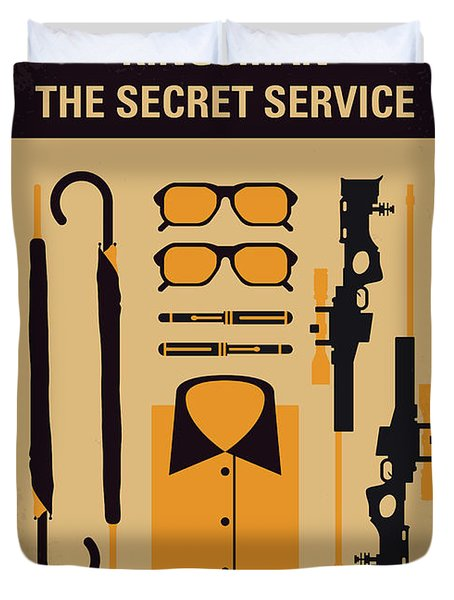 Duvet Cover featuring the digital art No758 My Kingsman Minimal Movie Poster by Chungkong Art