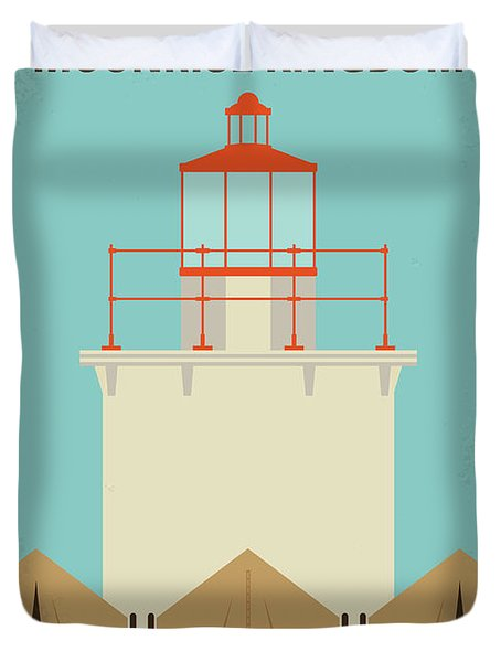Duvet Cover featuring the digital art No760 My Moonrise Kingdom Minimal Movie Poster by Chungkong Art