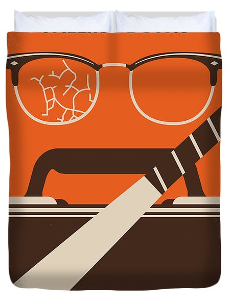 No768 My Falling Down Minimal Movie Poster Duvet Cover