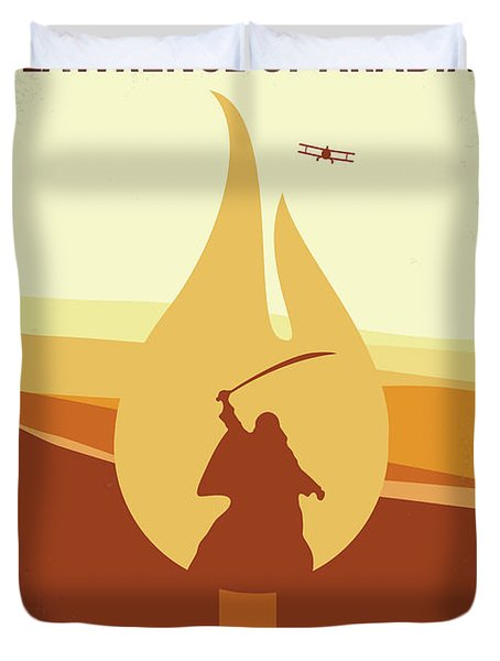 Duvet Cover featuring the digital art No772 My Lawrence Of Arabia Minimal Movie Poster by Chungkong Art