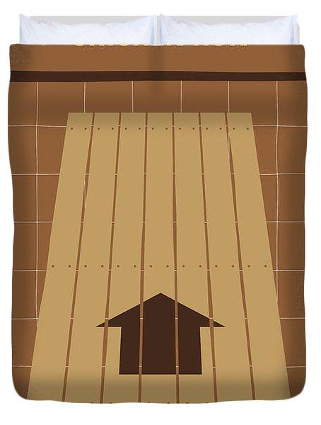 No789 My Chicken Run Minimal Movie Poster Duvet Cover