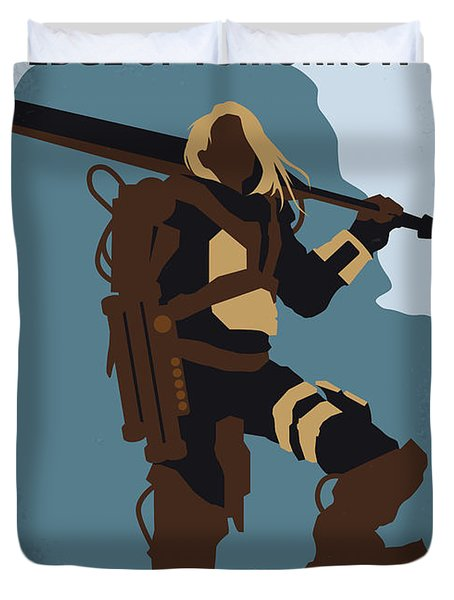 No790 My Edge Of Tomorrow Minimal Movie Poster Duvet Cover