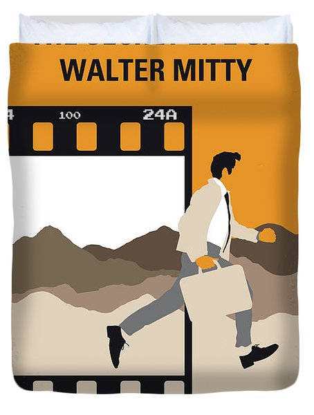 No806 My The Secret Life Of Walter Mitty Minimal Movie Poster Duvet Cover