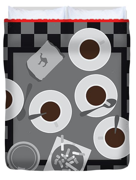 No808 My Coffee And Cigarettes Minimal Movie Poster Duvet Cover