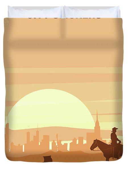 No821 My City Slickers Minimal Movie Poster Duvet Cover