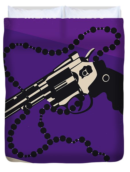 No823 My Mean Streets Minimal Movie Poster Duvet Cover