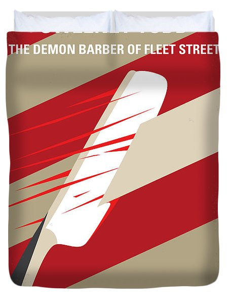 No849 My Sweeney Todd Minimal Movie Poster Duvet Cover