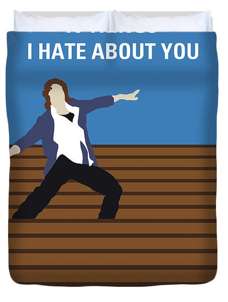 No850 My 10 Things I Hate About You Minimal Movie Poster Duvet Cover