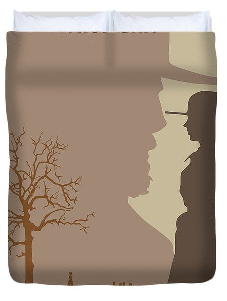 No860 My True Grit Minimal Movie Poster Duvet Cover