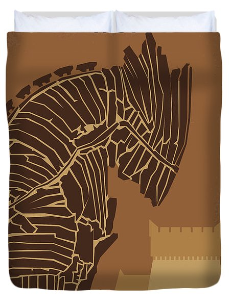 No862 My Troy Minimal Movie Poster Duvet Cover