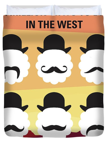 No890 My A Million Ways To Die In The West Minimal Movie Poster Duvet Cover