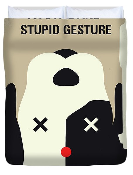 No893 My A Futile And Stupid Gesture Minimal Movie Poster Duvet Cover