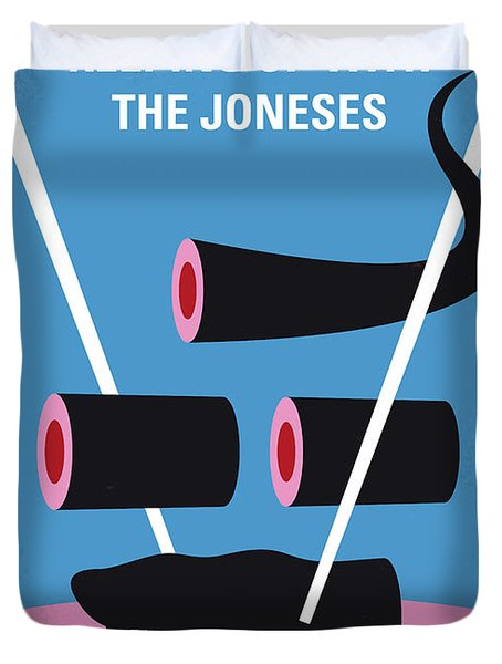 No922 My Keeping Up With The Joneses Minimal Movie Poster Duvet Cover