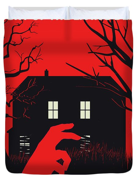 No935 My Night Of The Living Dead Minimal Movie Poster Duvet Cover