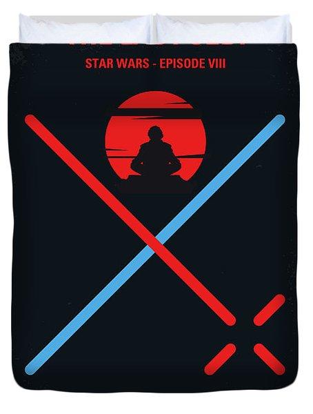 No940 My Star Wars Episode Viii The Last Jedi Minimal Movie Poster Duvet Cover
