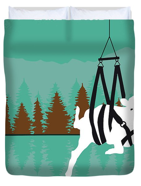 No944 My Lake Placid Minimal Movie Poster Duvet Cover