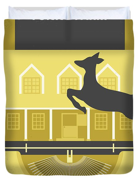 No959 My Funny Farm Minimal Movie Poster Duvet Cover