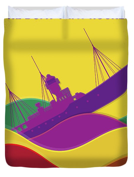 No961 My The Boat That Rocked Minimal Movie Poster Duvet Cover