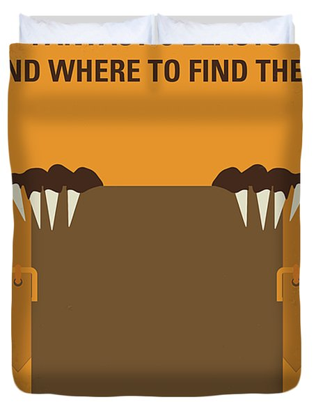 No962 My Fantastic Beasts And Where To Find Them Minimal Movie Poster Duvet Cover