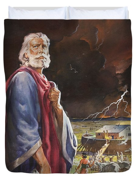 Noah's Ark Duvet Cover by James Edwin McConnell