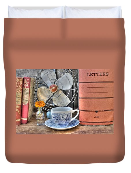Nobody Writes Letters Anymore Duvet Cover by Jane Linders