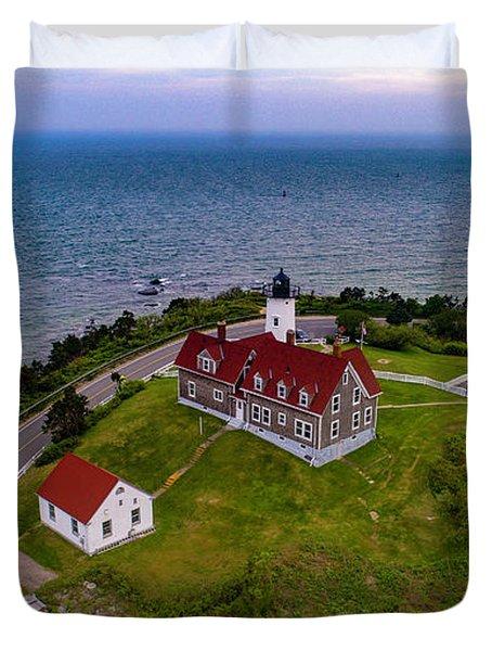 Nobska Point Lighthouse Duvet Cover