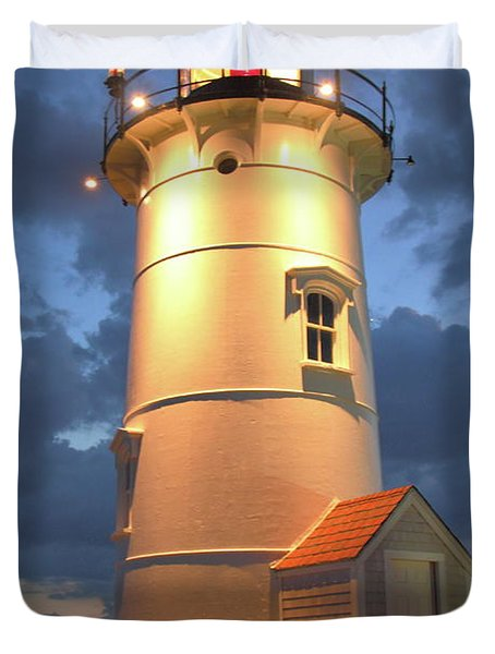 Duvet Cover featuring the photograph Nobska Point Lighthouse by Roupen  Baker