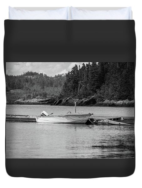 Noca Scotia In Black And White  Duvet Cover