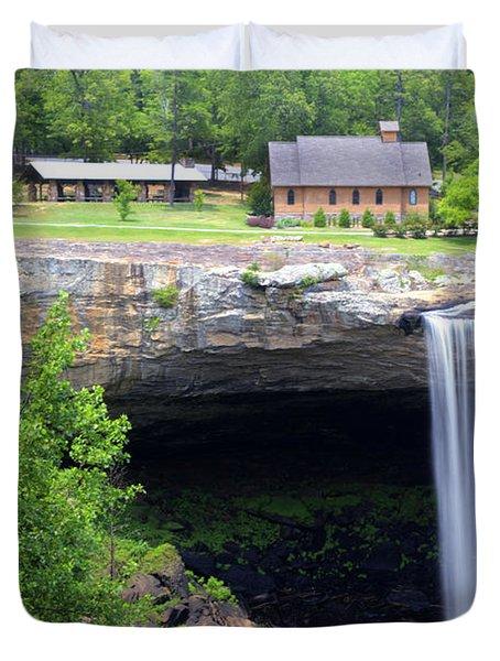 Noccolula Falls Gadsden Alabama Duvet Cover