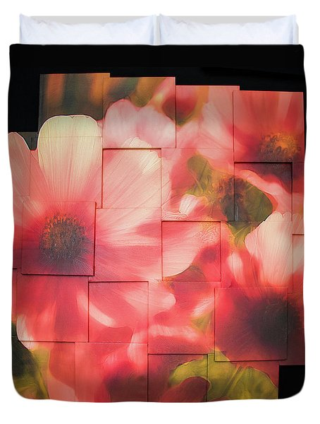 Nocturnal Pinks Photo Sculpture Duvet Cover