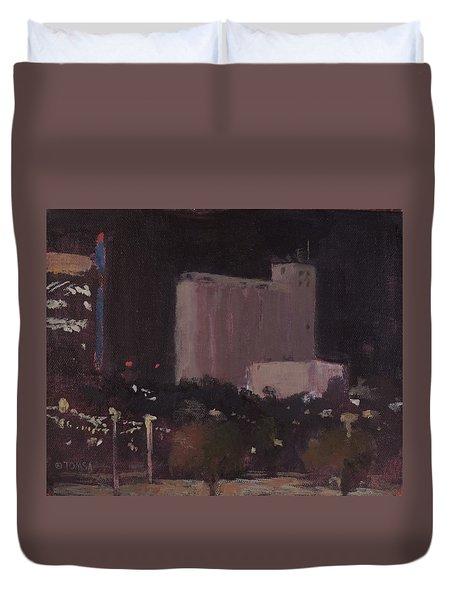 Nocturnal Tempe  - Art By Bill Tomsa Duvet Cover