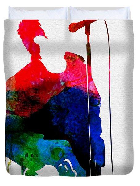 Noel Watercolor Duvet Cover