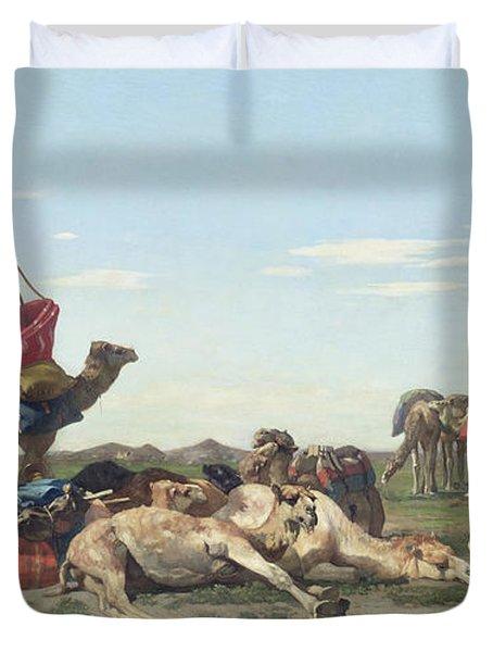 Nomads In The Desert Duvet Cover