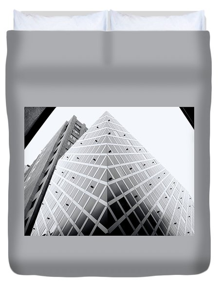 Duvet Cover featuring the photograph Non-pyramidal by Wayne Sherriff