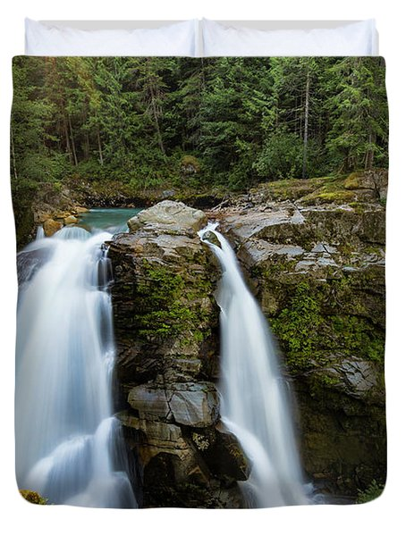 Nooksack At Sunrise Duvet Cover