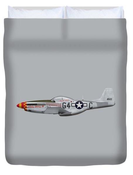 Nooky Booky I V - P-51 D Mustang Duvet Cover by Ed Jackson