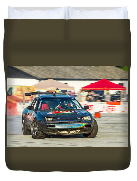Duvet Cover featuring the photograph Nopi Drift 1 by Michael Sussman
