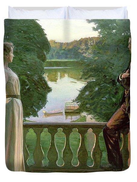 Nordic Summer Evening Duvet Cover by Sven Richard Bergh