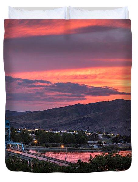 Normal Hill Sunset Duvet Cover