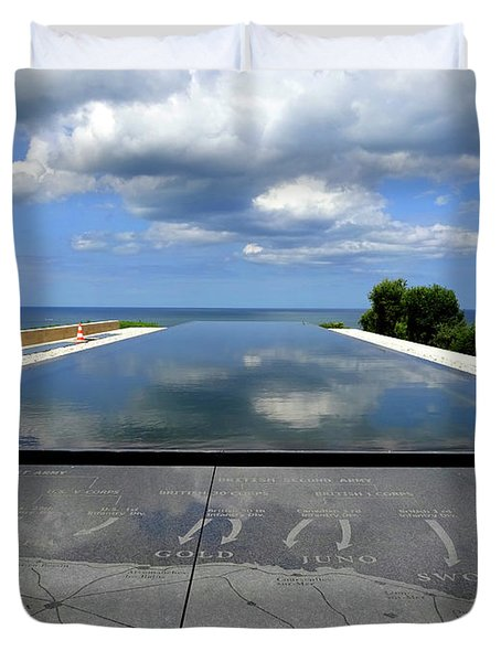 Normandy Beach France Duvet Cover