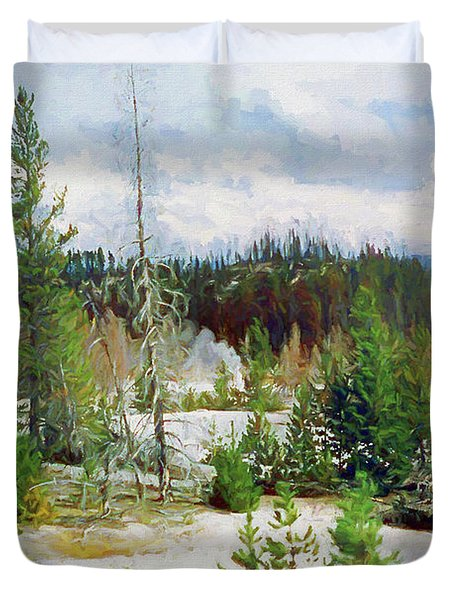 Norris Geyser Basin, Yellowstone National Park Duvet Cover