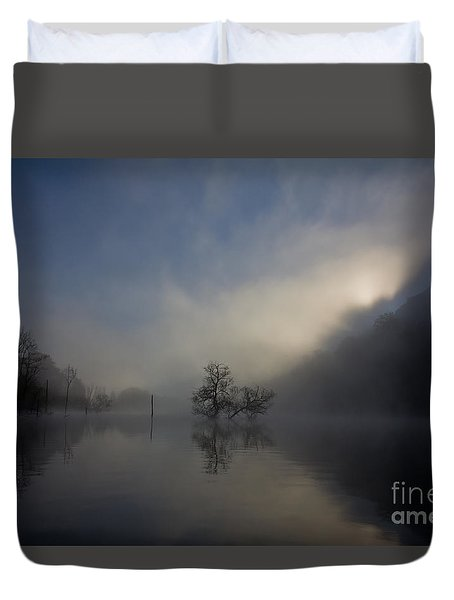 Duvet Cover featuring the photograph Norris Lake April 2015 by Douglas Stucky