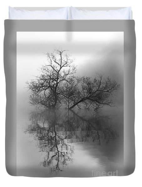 Duvet Cover featuring the photograph Norris Lake April 2015 Two by Douglas Stucky