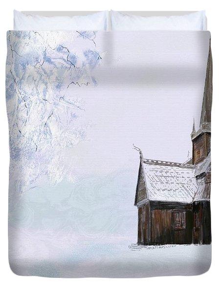 Norsk Kirke Duvet Cover