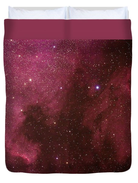 North American And Pelican Nebulas Duvet Cover