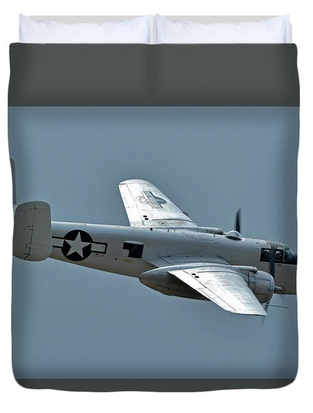North American B-25j Mitchell N3675g Photo Fanny Chino California April 30 2016 Duvet Cover by Brian Lockett