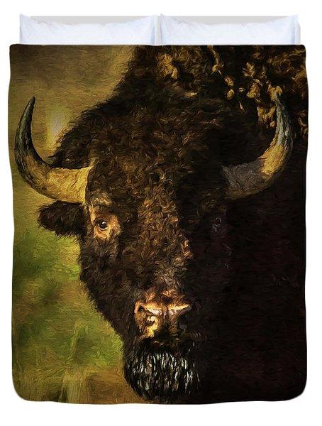 North American Buffalo Duvet Cover