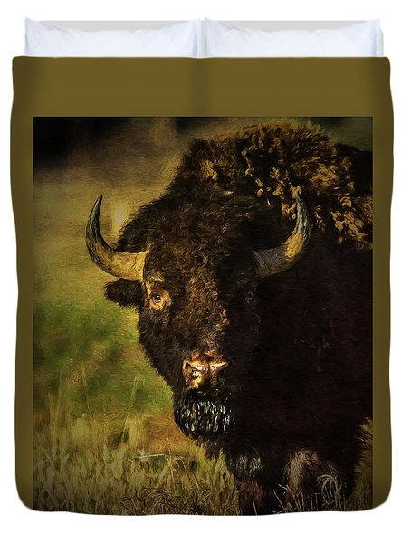 North American Buffalo Duvet Cover
