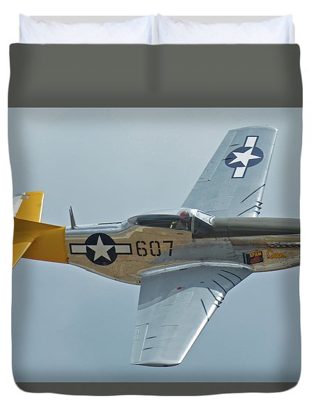 North American P-51d Mustang Nl5441v Dolly/spam Can Chino California April 30 2016 Duvet Cover by Brian Lockett